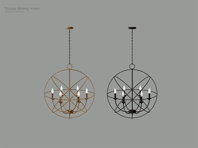 Tessa Dining Ceiling Lamp for TS4