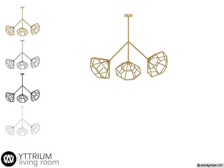 Yttrium Chandelier CC for The Sims 4