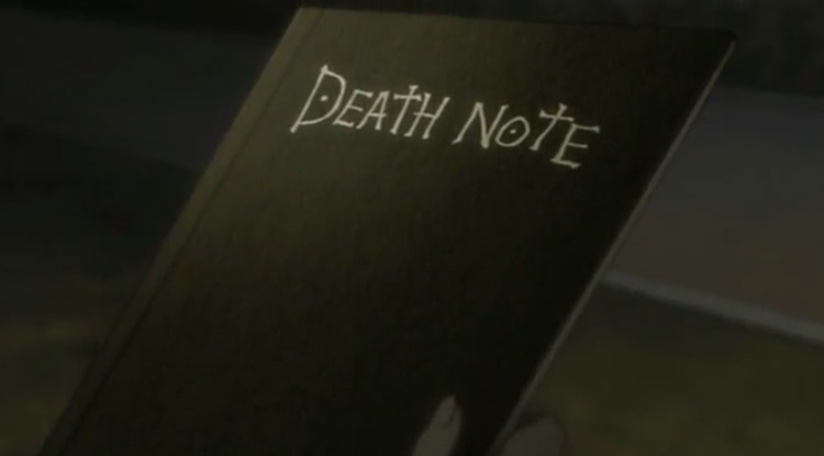 The Death Note in Death Note anime