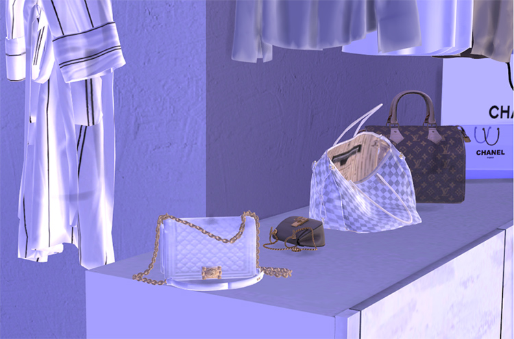 Chanel Le Boy Handbag CC in Sims 4
