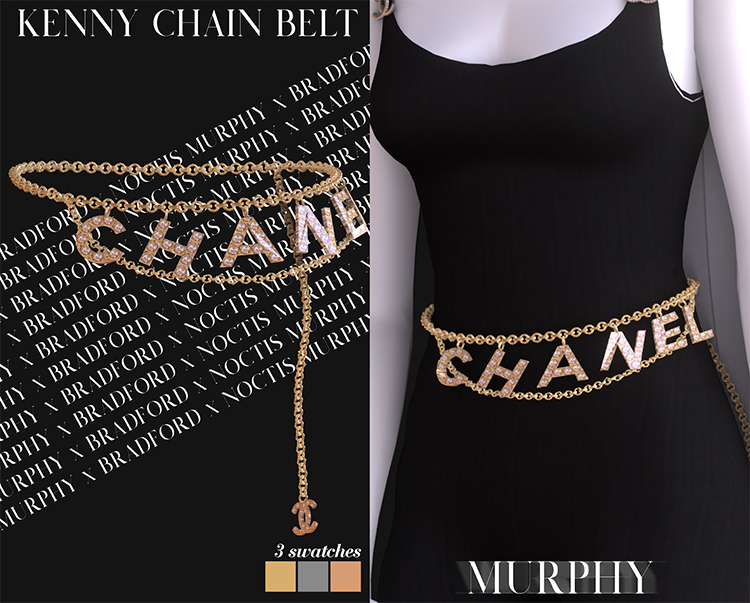 Kenny Chain Belt - Chanel CC for Sims 4
