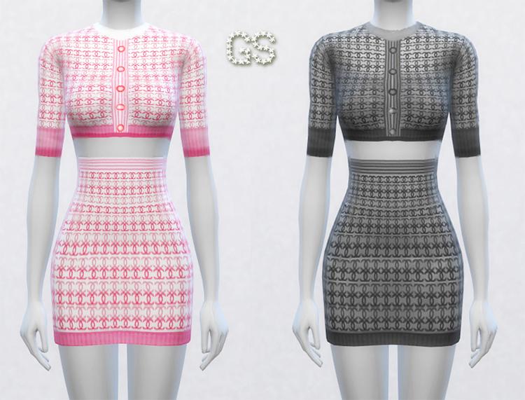 Chanel-style Dress TS4 CC