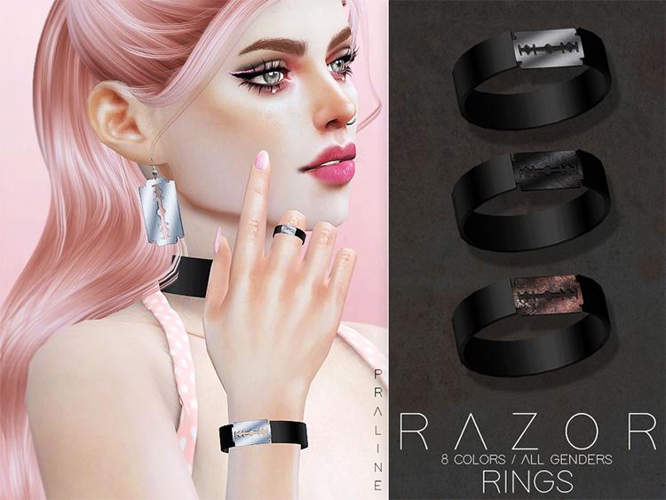Razor designed ring CC - The Sims 4