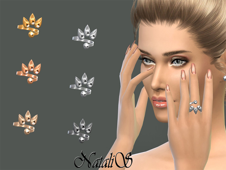Spiky ring CC for Sims 4