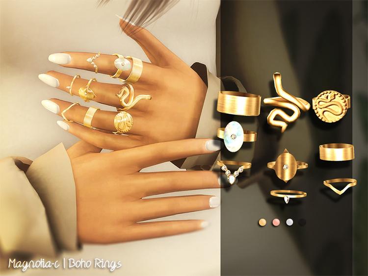 Boho themed rings CC