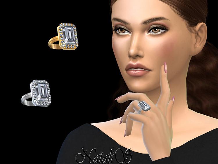 Emerald cut ring CC