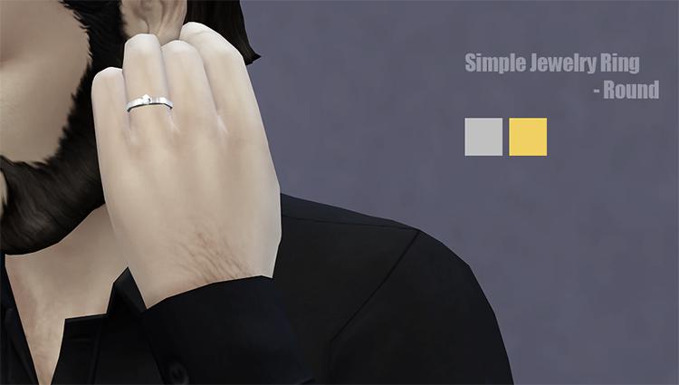 Simple finger ring for men - TS4 CC