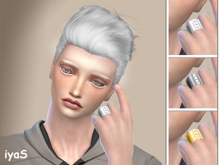 Elegant ring with diamonds - TS4 CC