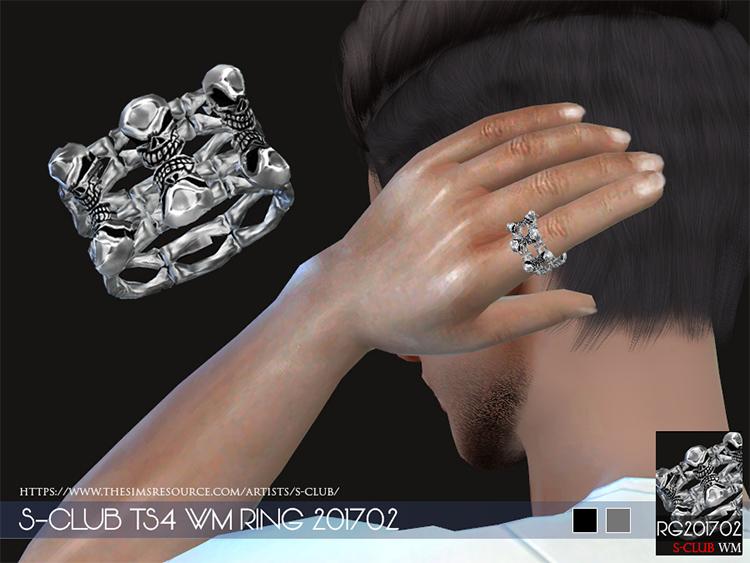 TS4 S-club CC skull ring