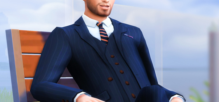 Pinstripe suit CC for The Sims 4