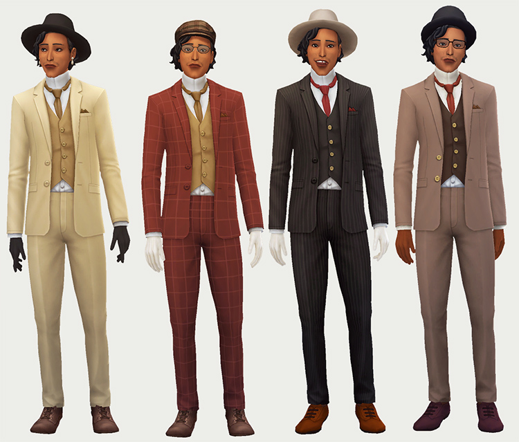 County Suit CC for The Sims 4