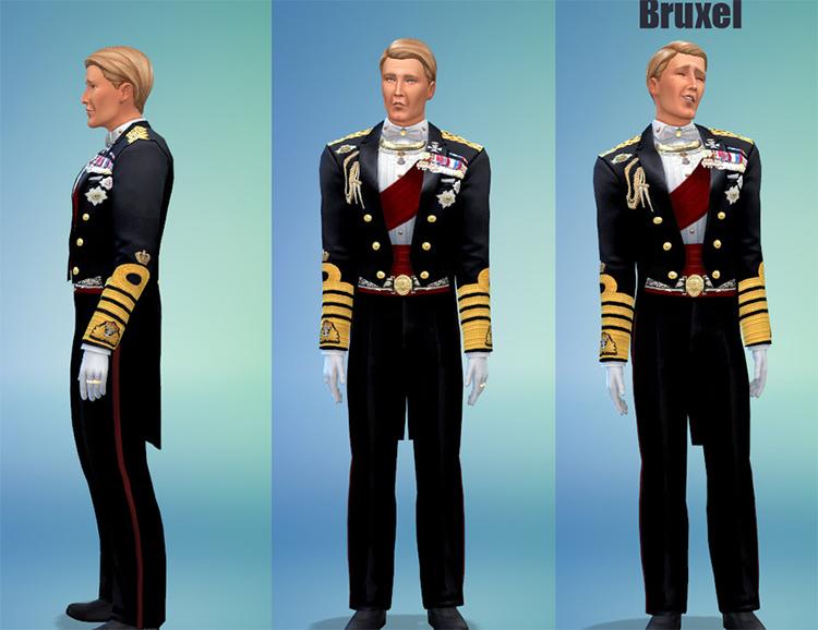 King Formal Tuxedo - Sims 4 CC