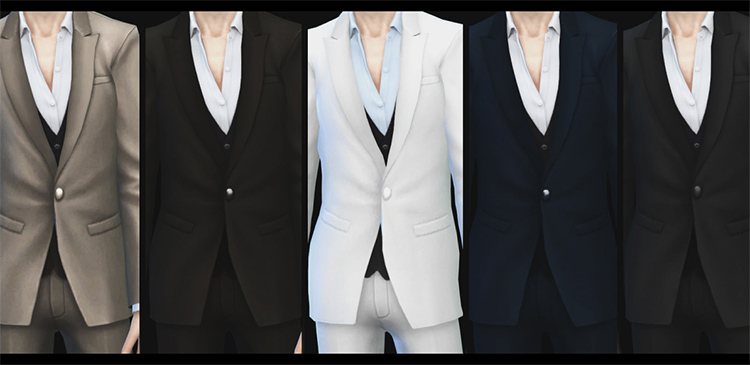 Male Suit fullbody CC for Sims 4