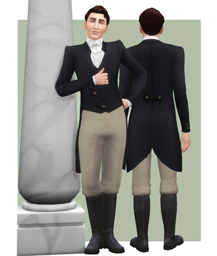 Regency Suit CC for Sims 4