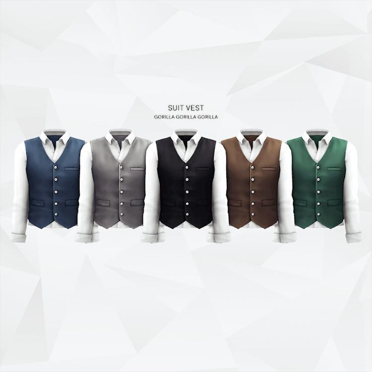 Vest Suit CC for TS4