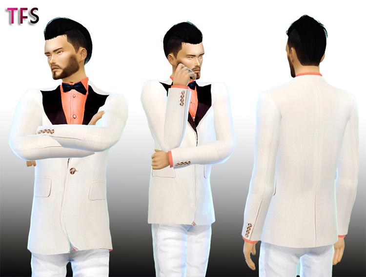 White Tuxedo CC for The Sims 4