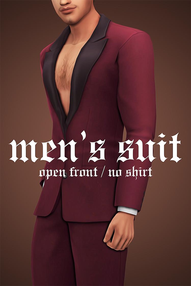 Men's Open Front Suit CC