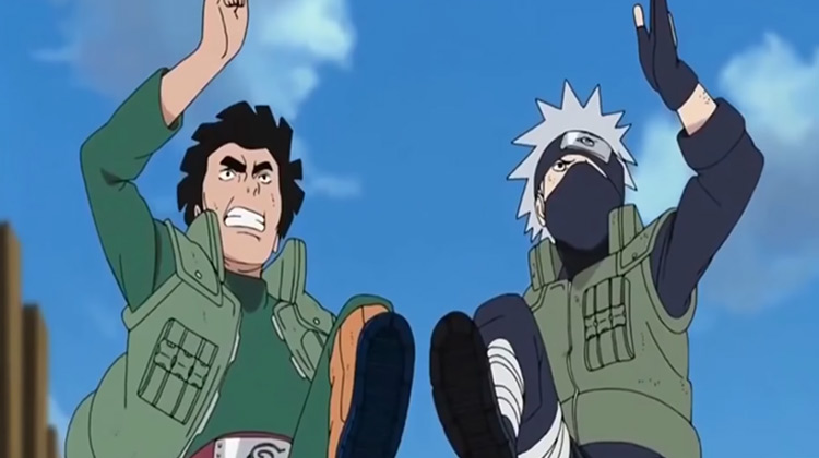 Kakashi and Guy in Naruto: Shippuden