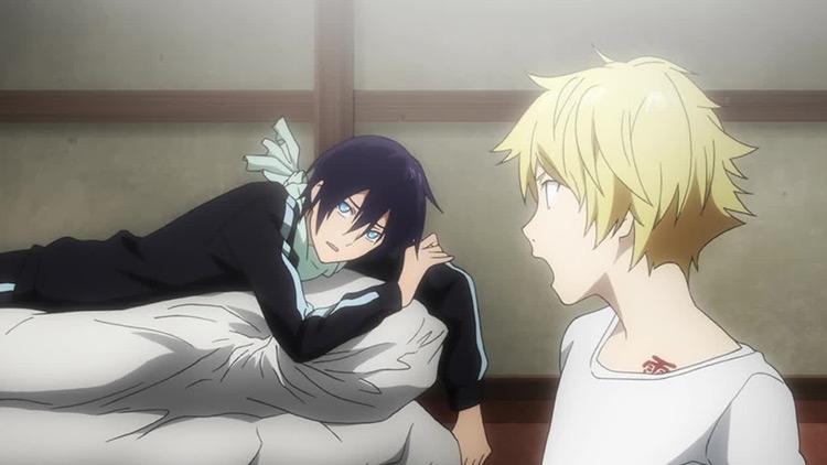 Yato and Yukine in Noragami Aragoto