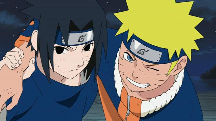 Naruto and Sasuke from Naruto anime