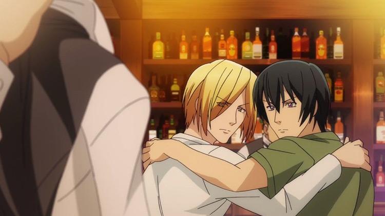 Iori and Kouhei in Grand Blue anime