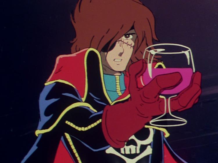 Captain Harlock in Space Pirate Captain Harlock (1979)