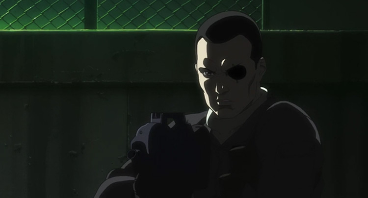 Saito from Ghost in the Shell anime
