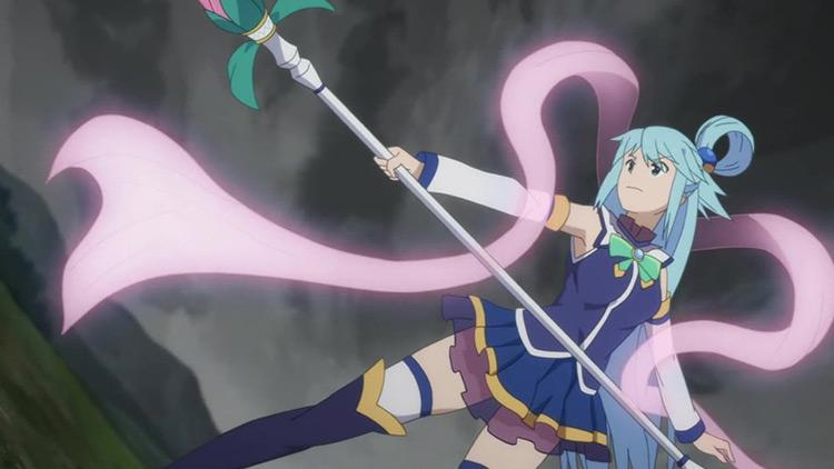 Aqua in KonoSuba anime