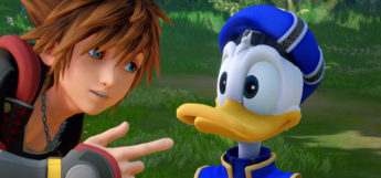Sora talking to Donald in HD