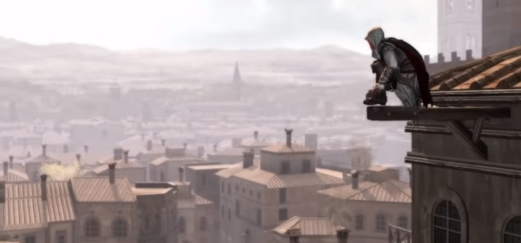 Assassins Creed 2 perched on roof screenshot