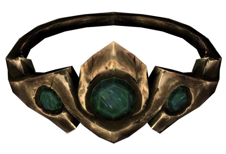 Gold and Emerald Circlet Skyrim