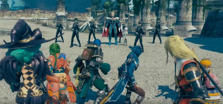 Star Ocean 5 - character battle scene