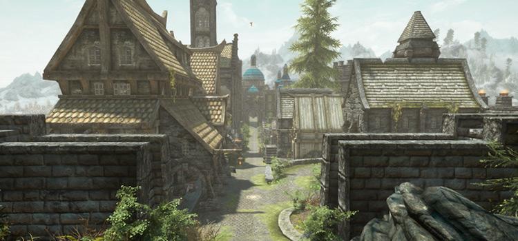 Solitude, town HD screenshot from Skyrim