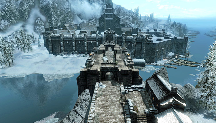 Windhelm city in Skyrim