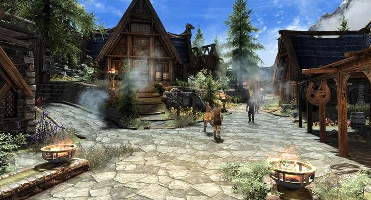 Whiterun city in Skyrim