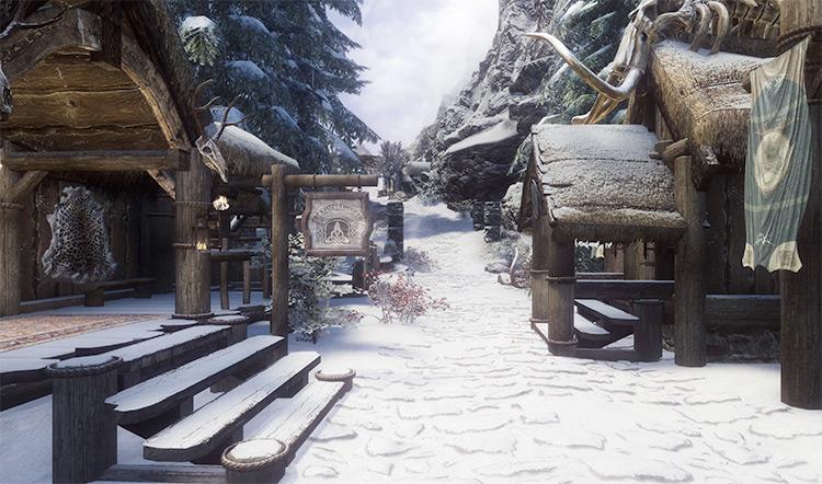 Winterhold big city in Skyrim