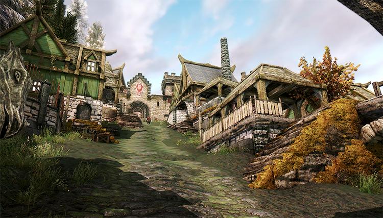 Solitude city in Skyrim