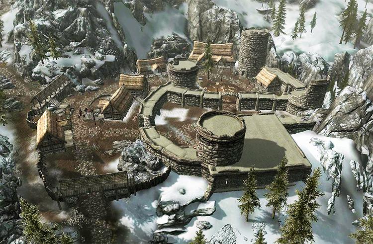 Helgen city in Skyrim