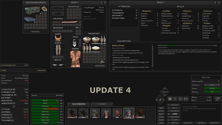 Dark UI mod for Kenshi