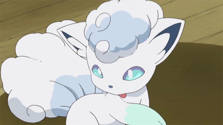 Alolan Vulpix from Pokemon anime