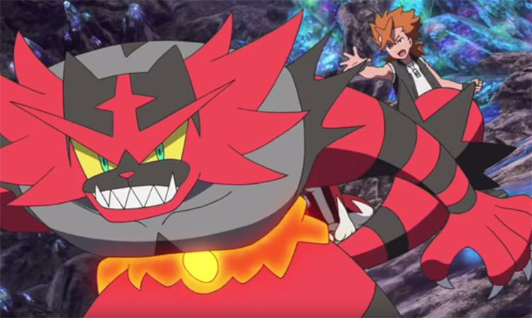 Incineroar in the Pokemon anime