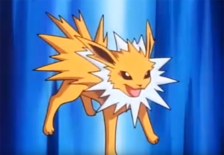 Jolteon from the Pokemon anime
