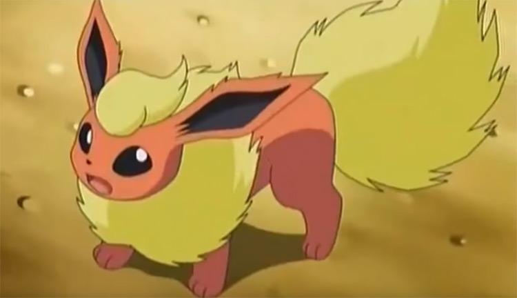 Flareon in the Pokemon anime