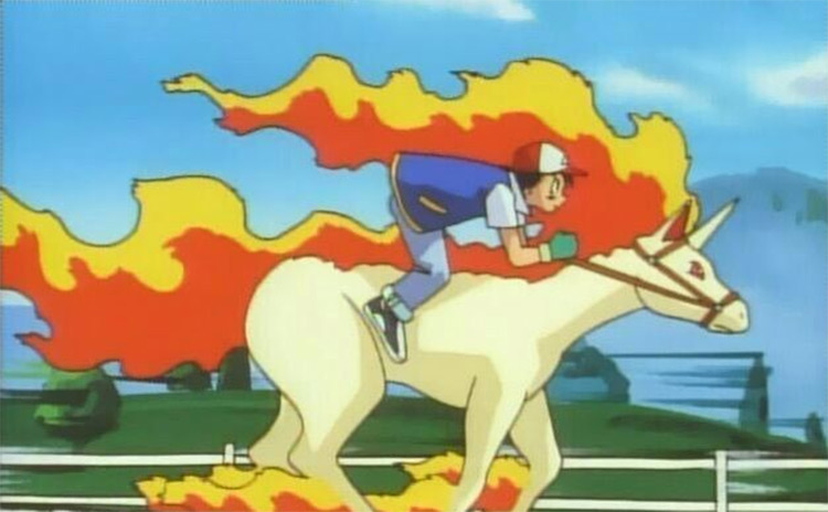 Rapidash from the Pokemon anime