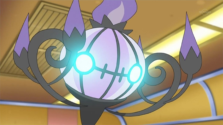 Chandelure screenshot from the Pokemon anime