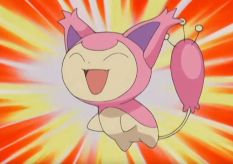 Skitty in the anime