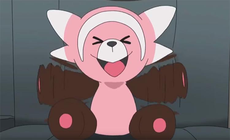 Stufful bear in Pokemon anime