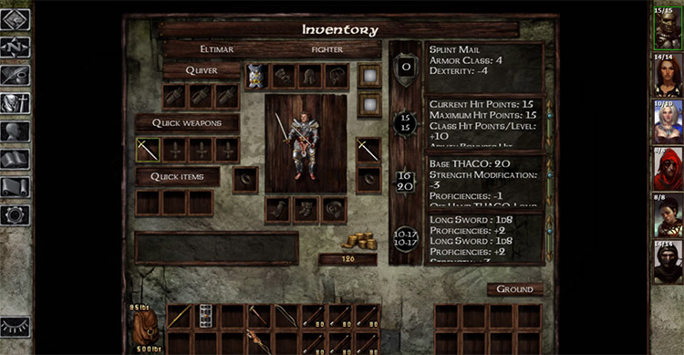 Icewind Dale game screenshot