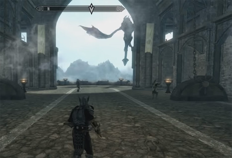 Call Dragon shout in TES 5 Skyrim