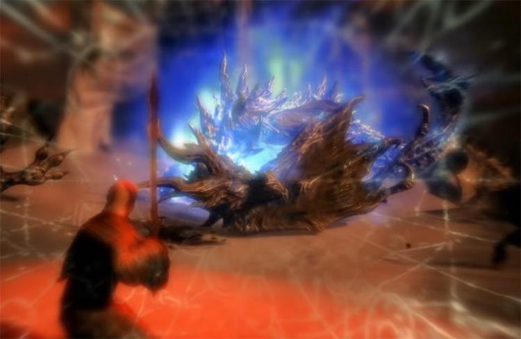 Dragonrend in Skyrim